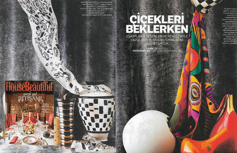 House Beautiful Magazine Lifestyle Pattern Scarves Design Object Inspiration Eşarp