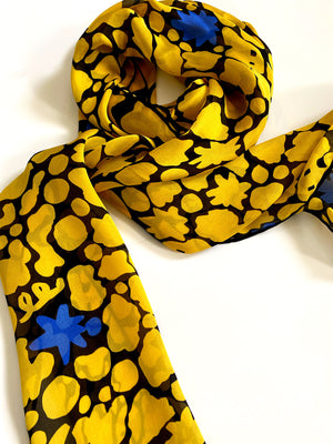 Yello Silk Scarf