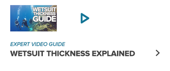 Wetsuit thickness explained