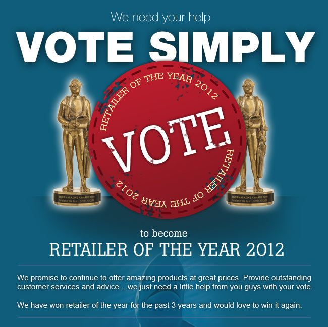 Vote Simply Scuba as Diver Retailer of the Year 2012