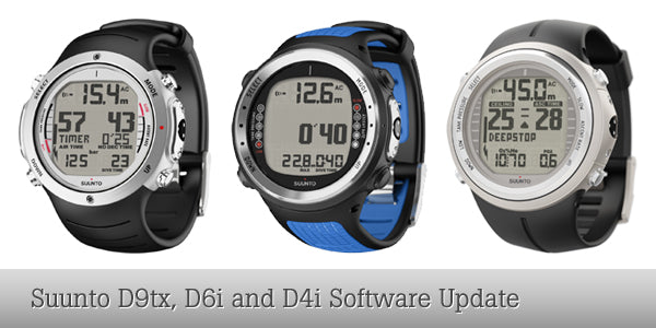 Suunto D9tx, D6i and D4i Software Upgrade