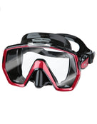 TUSA Freedom HD Mask - Black/Metallic Red
