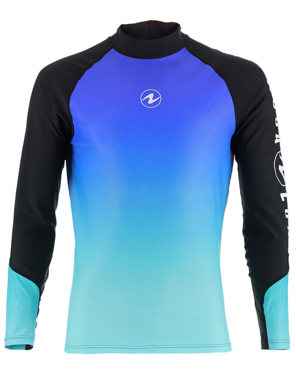 Aqua Lung Rash Vest Mens Long Blue