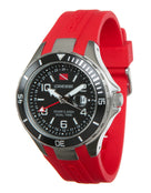 Cressi Traveller Dual Time Watch - Red