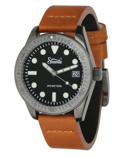Szanto Vintage Dive Watch Plated - Gun Grey