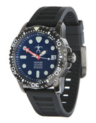 Szanto HLA Black Dive Watch - Blue Face