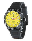 Szanto HLA Black Dive Watch - Yellow Face