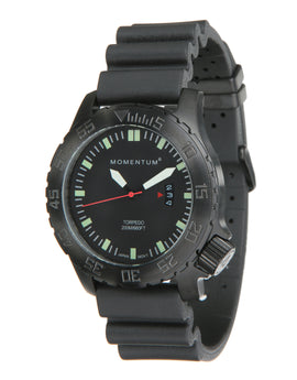 Momentum Torpedo Black Ion Watch - Black Face