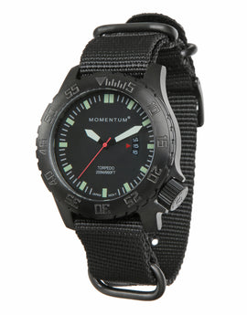 Momentum Torpedo Black-Ion NATO Watch - Black Face