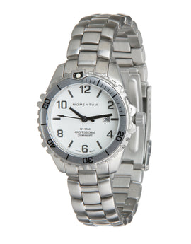 Momentum M1 Mini Steel Dive Watch - White Face