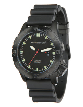 Momentum Torpedo Black-Ion Sapphire Watch - Black Face