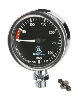 Apeks Black Tech Gauge SPG Metric