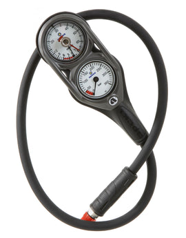 Apeks Double Contents and Depth Gauge - Pewter