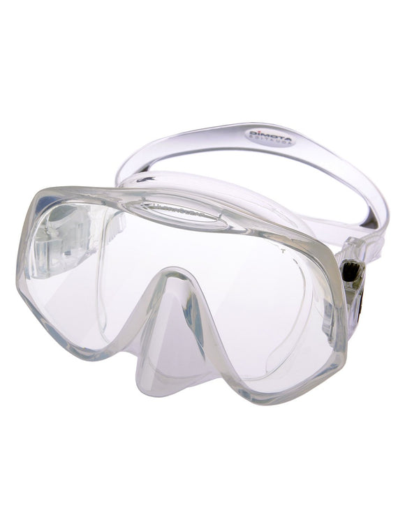 Atomic Frameless Midi Mask - Clear with Black Trim