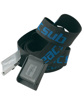 Seac Sub Steel Buckle Weight Belt - Black/Blue