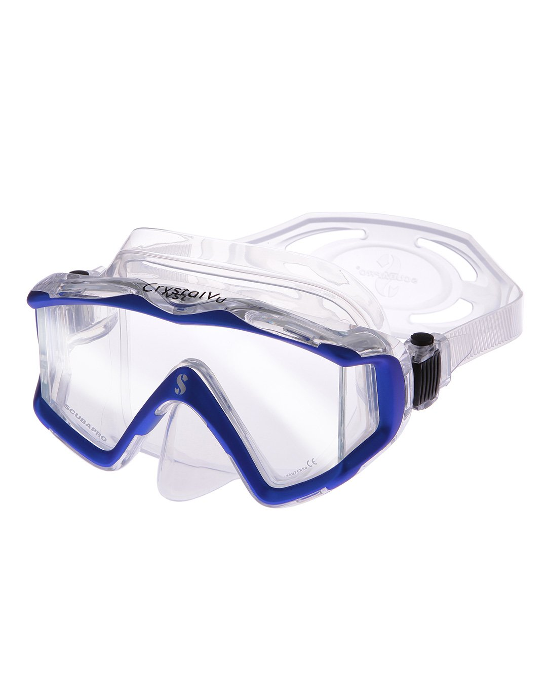 Image of Scubapro Crystal Vu Mask - Metallic Blue/Clear Skirt