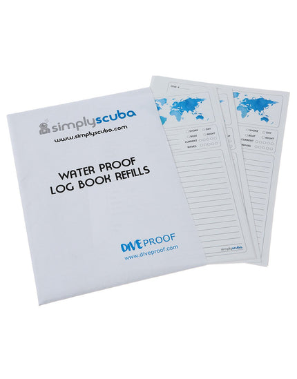 DiveProof PADI Logbook Refill Pages