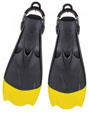 Hollis F1 Technical Diving Fin Yellow Tip