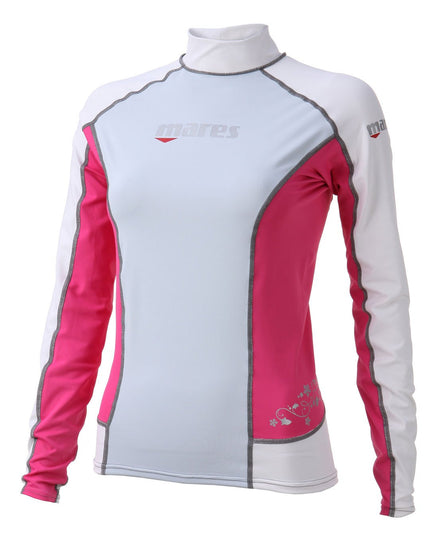 Mares Trilastic Long Sleeve She Dives Rash Guard - Pink