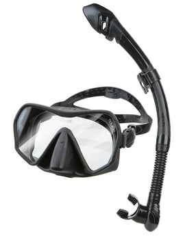 Seac Sub Touch Snorkel Set - Black