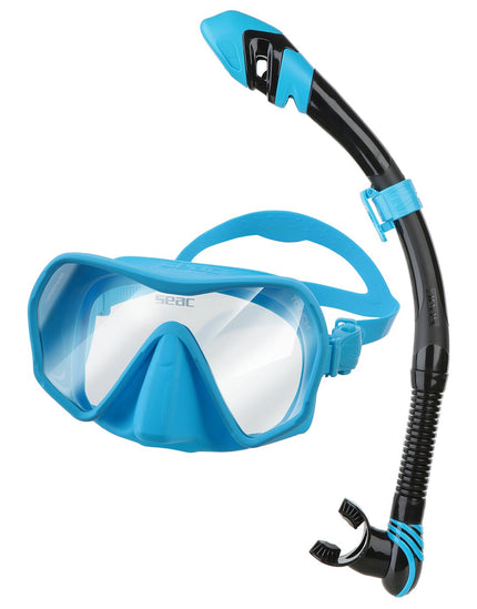 Seac Sub Touch Snorkel Set - Blue