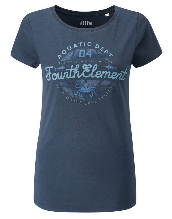 Fourth Element Aquatic Dept. Womens Tee - Navy