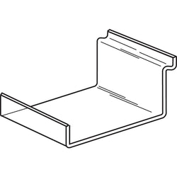 Shelf with lip - Slatwall