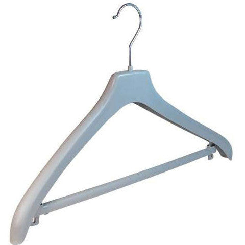 44cm x 20mm Grey Jacket Hanger with Bar