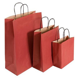 Coloured Paper Carrier Bags - 4 Sizes - 4 Colours