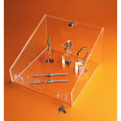 Display case: lockable-counter