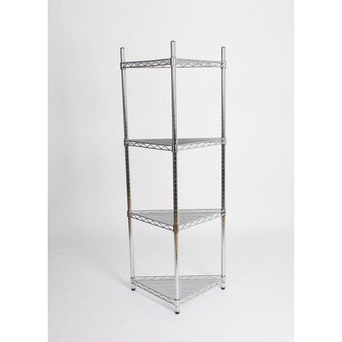 Chrome Shelving Corner Unit