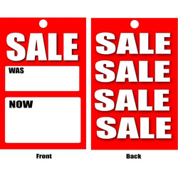 Sale & Reduced Hanger Tickets - 6 Designs