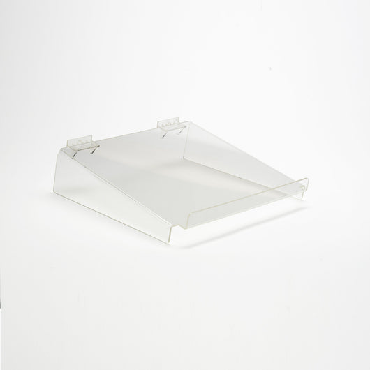 Acrylic Shelf Slatwall with front lip - 8 Types