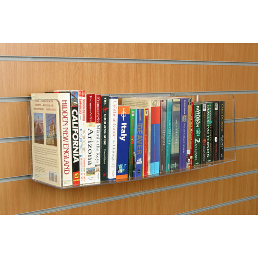 Books / Multimedia Acrylic Shelf Slatwall - 4 Types