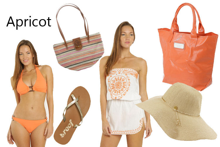 Apricot and Coral Swimwear