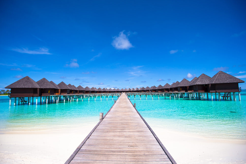 bigstock-Water-bungalows-and-wooden-jet-88619585