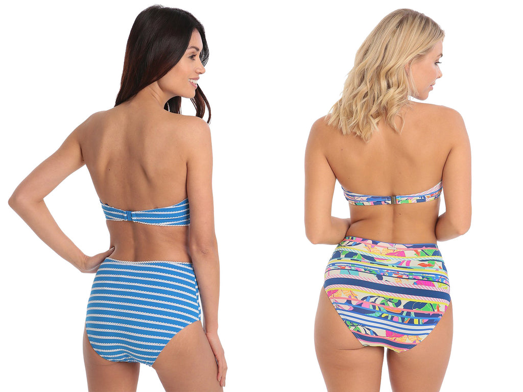 2f726104a52 Go retro with a killer high waisted bikini bottom to add a sexy figure by  emphasising your naturally curvy shape. High waisted styles are great for  giving ...