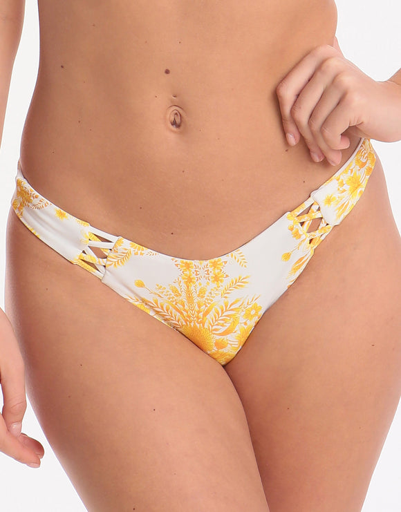 Seafolly Sunflower High Cut Bikini Bottom - Buttercup