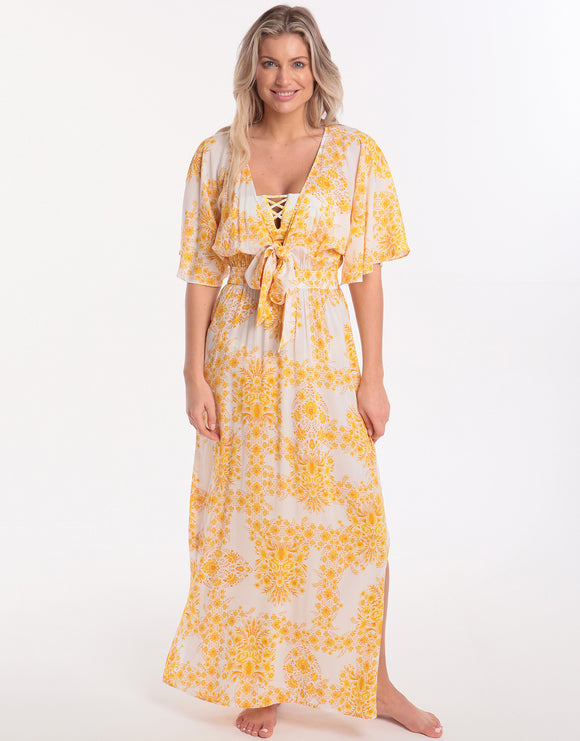 Seafolly Sunflower Maxi Dress - Buttercup