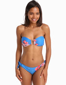 Ted Baker Novemi Raspberry Ripple U Bar Bikini Top - Cruise Blue