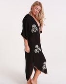 ViX Solid Braid Kaftan - Black