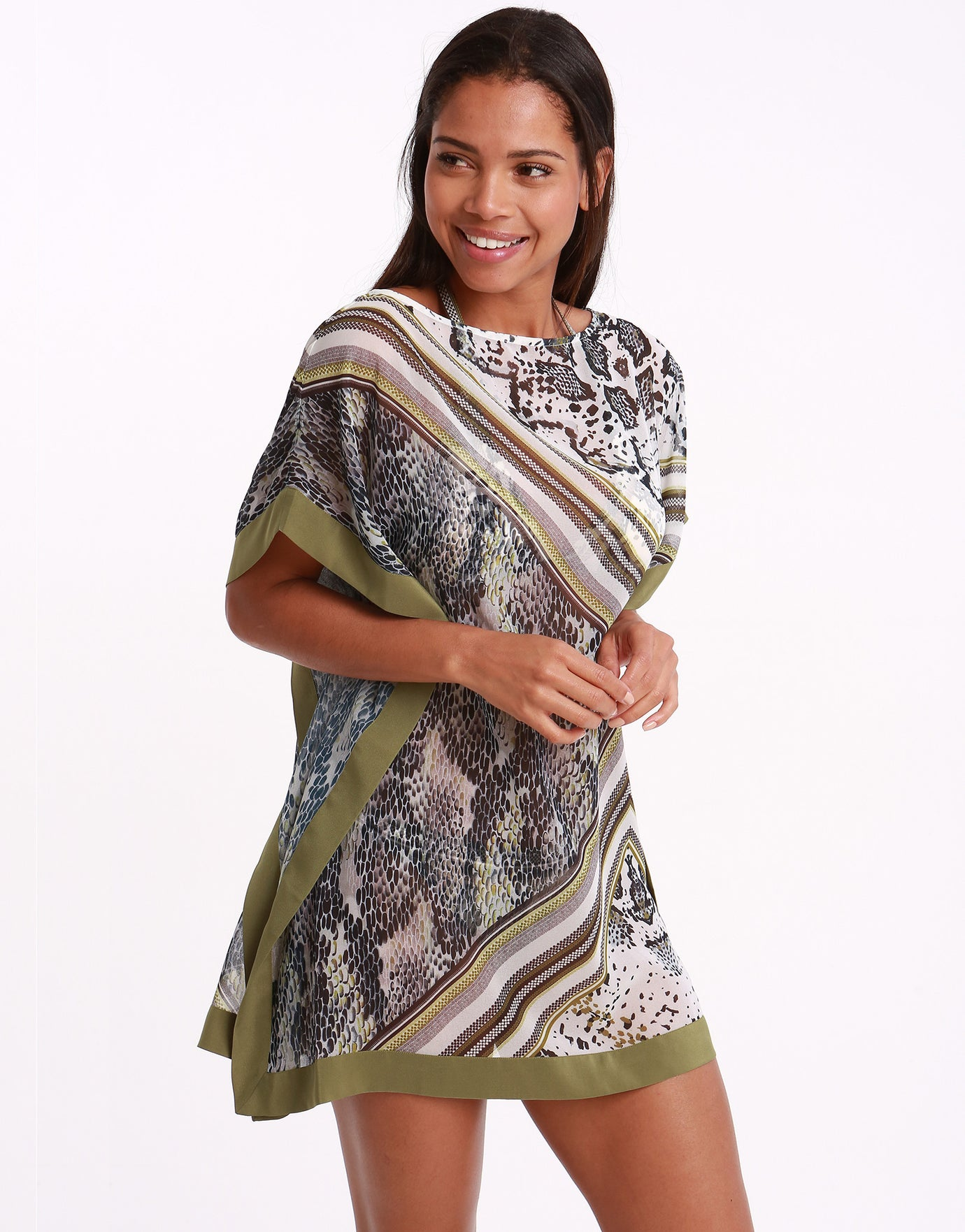 Ted Baker Quartz Square Kaftan - Light Grey