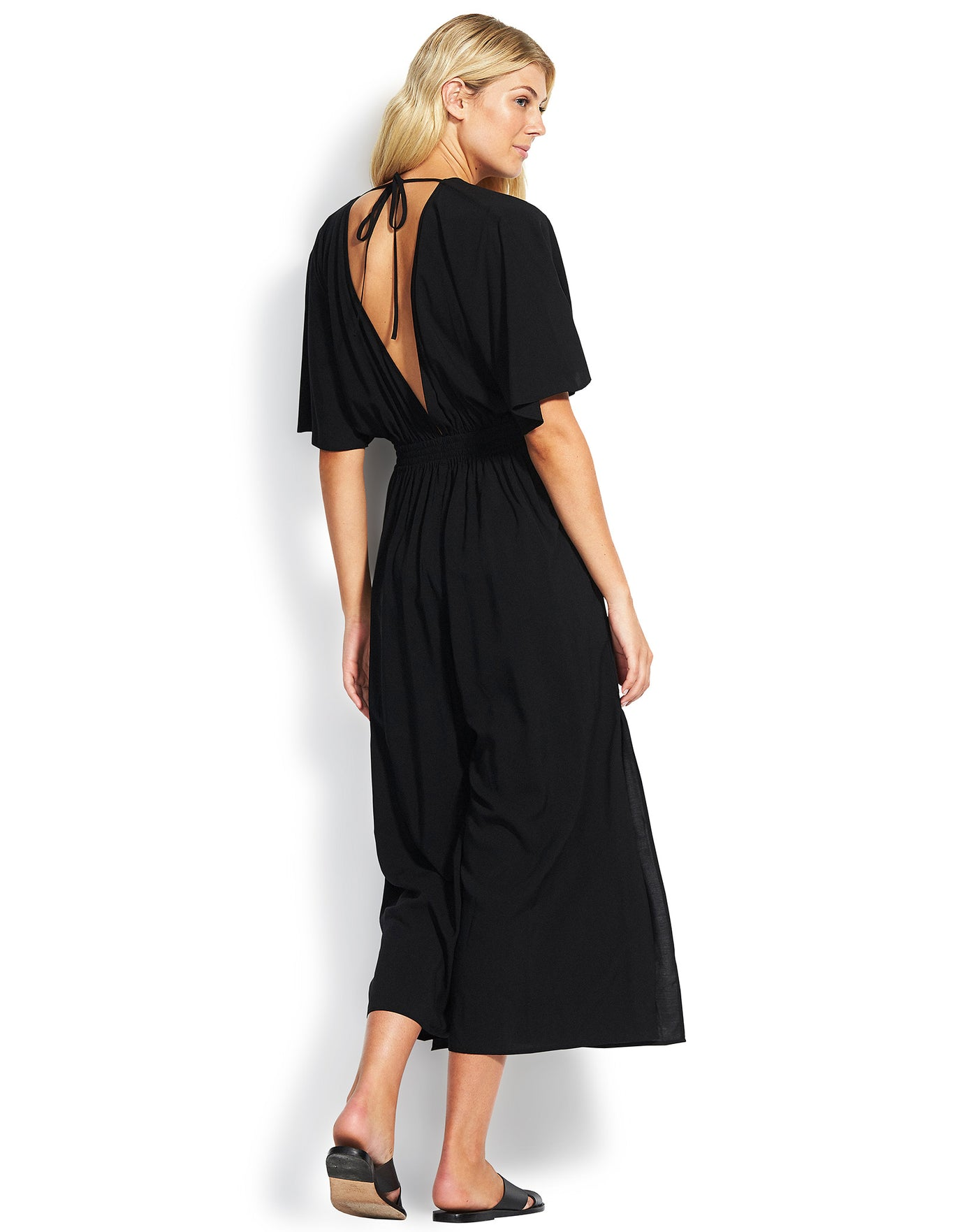 Seafolly Tie Front Jumpsuit - Black