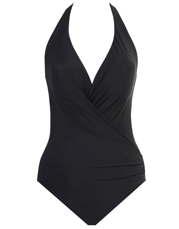 Miraclesuit Rock Solid Wrapsody Swimsuit - Black