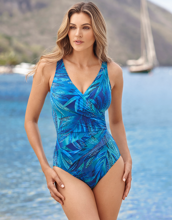 Miraclesuit Best Fronds Forever Hidden Treasure Swimsuit - Blue