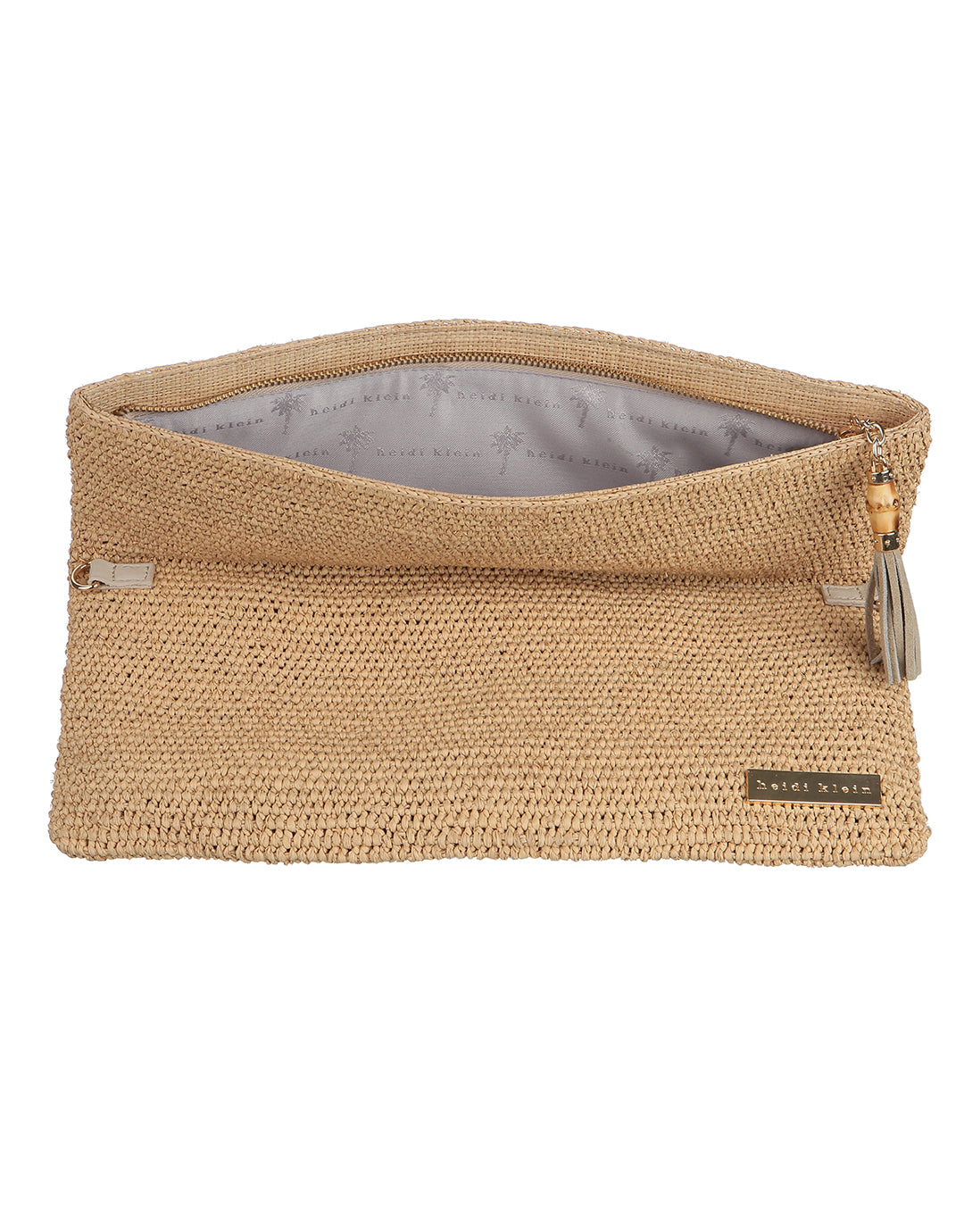 Heidi Klein Savannah Bay Raffia Clutch Bag - Natural