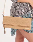 Heidi Klein Grace Bay Raffia Crossbody Bag - Natural