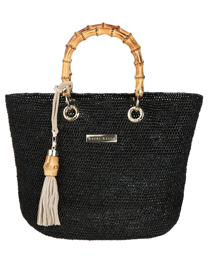 Heidi Klein Savannah Bay Mini Bamboo Bag - Black