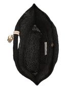Heidi Klein Grace Bay Mini Raffia Bucket Bag - Black