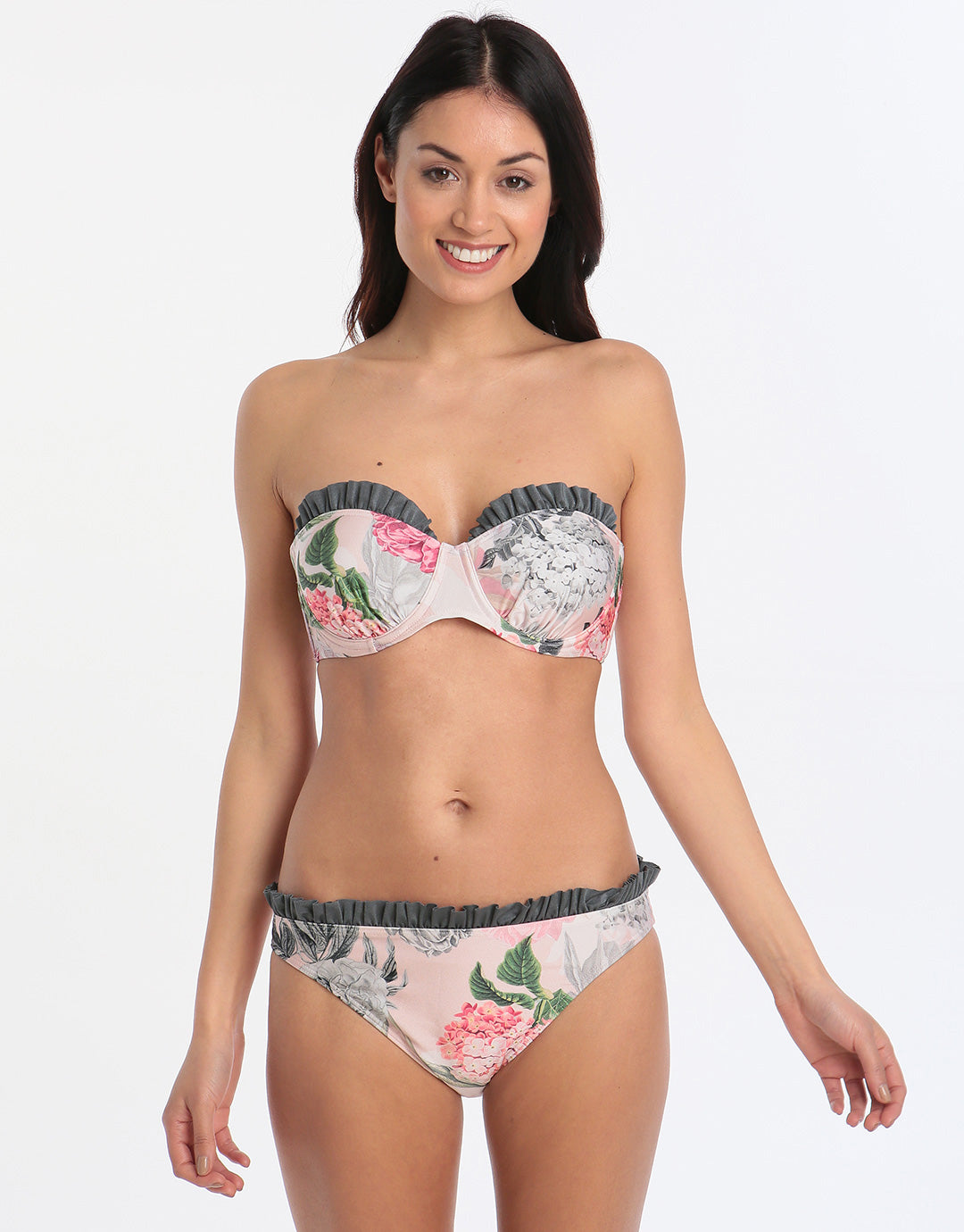 7410ccb032e314 ... Ted Baker Palace Gardens Moulded Bikini Top - Grey ...